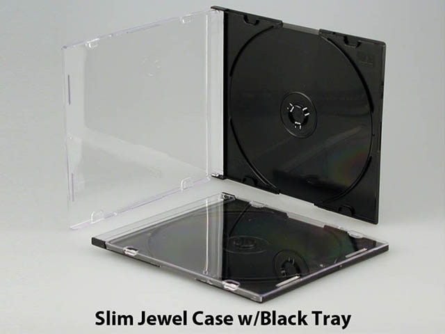 Slim Jewel Case w/black tray