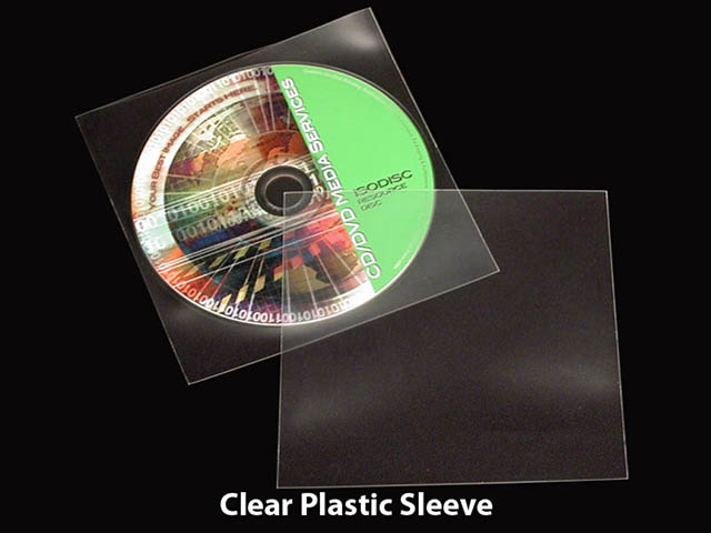 Clear Plastic Disc Sleeve