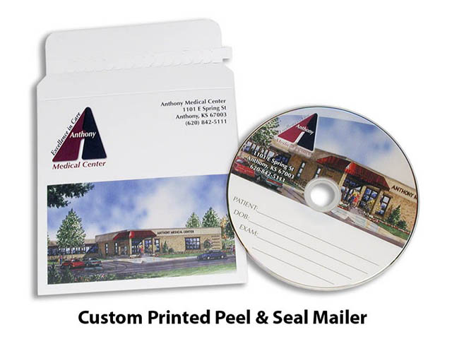 Custom Printed peel and seal Mailer