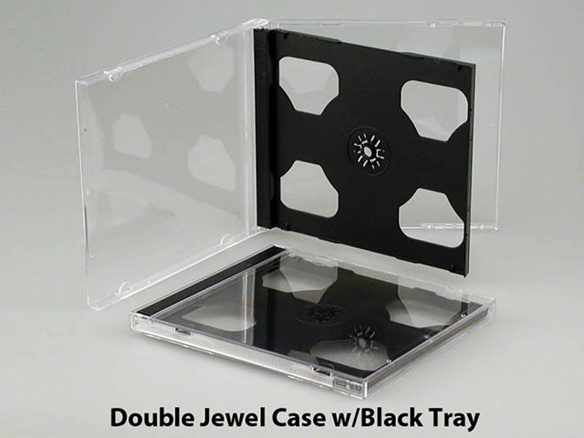 Double Jewel Case w/black tray