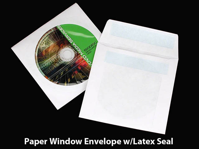 Paper Window Envelope w/Latex Seal