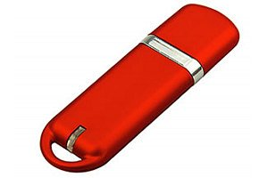 Model FD-858 Thinline Rounded Rubber USB Flash Drive