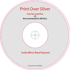 Print Over Silver Disc Template
