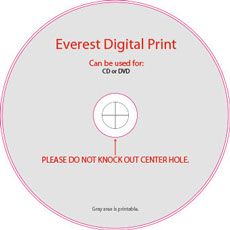 Everest Digital Print Disc Template
